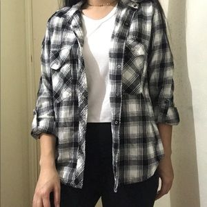Forever21 black and white flannel